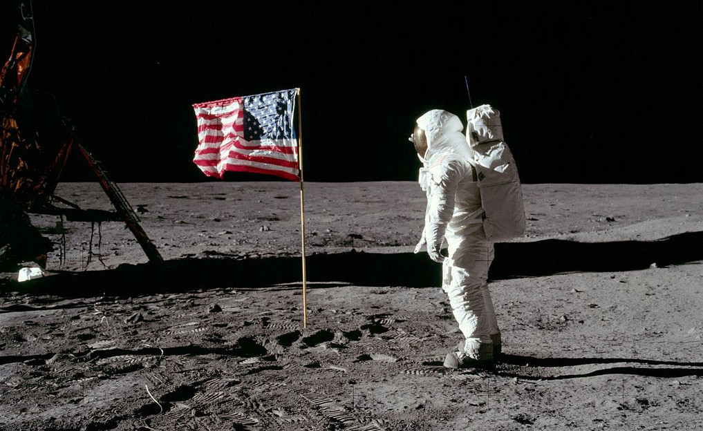 """""""Ey, Neil, guck mal: Von wegen kein Wind!"""" Quelle: NASA (gemeinfrei)"""