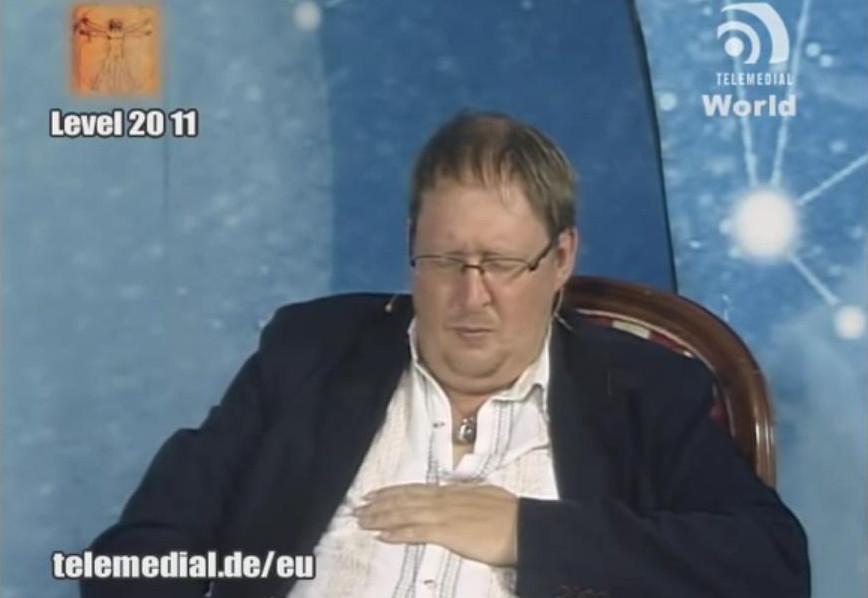 """""""Du mir spannt dr Ranza von dem Karmaglomb!"""", Quelle: Youtube-Vortrag, Kanal Telemedial 2011"""