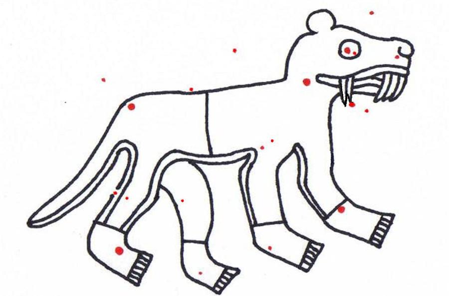 Für Astrologen das Sternbild Pegasus, für vernünftige Menschen ein Säbelzahnhamster Quelle: Akapochtli [CC BY 3.0], via Wikimedia Commons